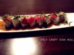 spicy crispy tuna roll